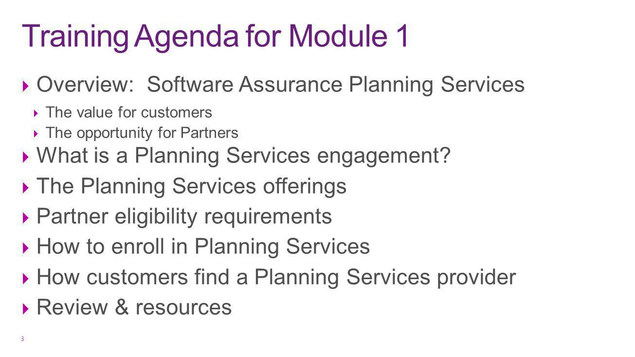Software Assurance Planning Services Value for Customers 4