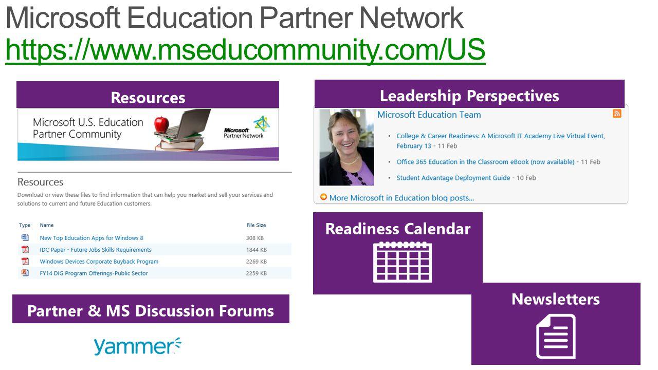 10 Microsoft Education Partner Network https://www.mseducommunity.com/US