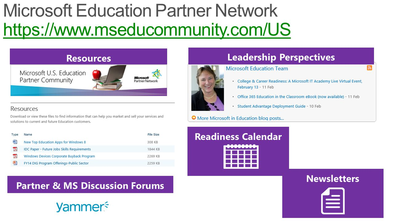 18 Microsoft Education Partner Network https://www.mseducommunity.com/US