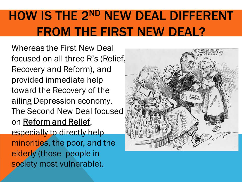 HOW IS THE 2 ND NEW DEAL THE SAME AS THE NEW DEAL .