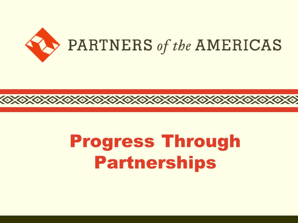 Who we are  Founded in 1964 as the people-to-people component of the Alliance for Progress  Partners of the Americas (Partners) is the largest private voluntary organization in the Western Hemisphere