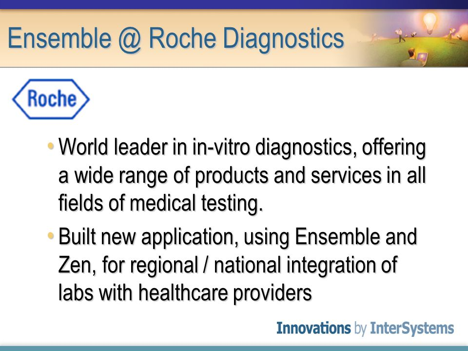 World leader in in-vitro diagnostics, offering a wide range of products and services in all fields of medical testing.
