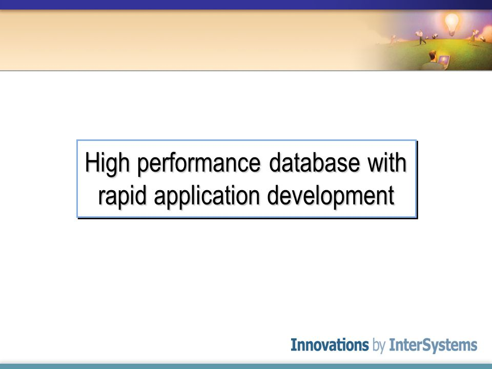 High performance database with rapid application development