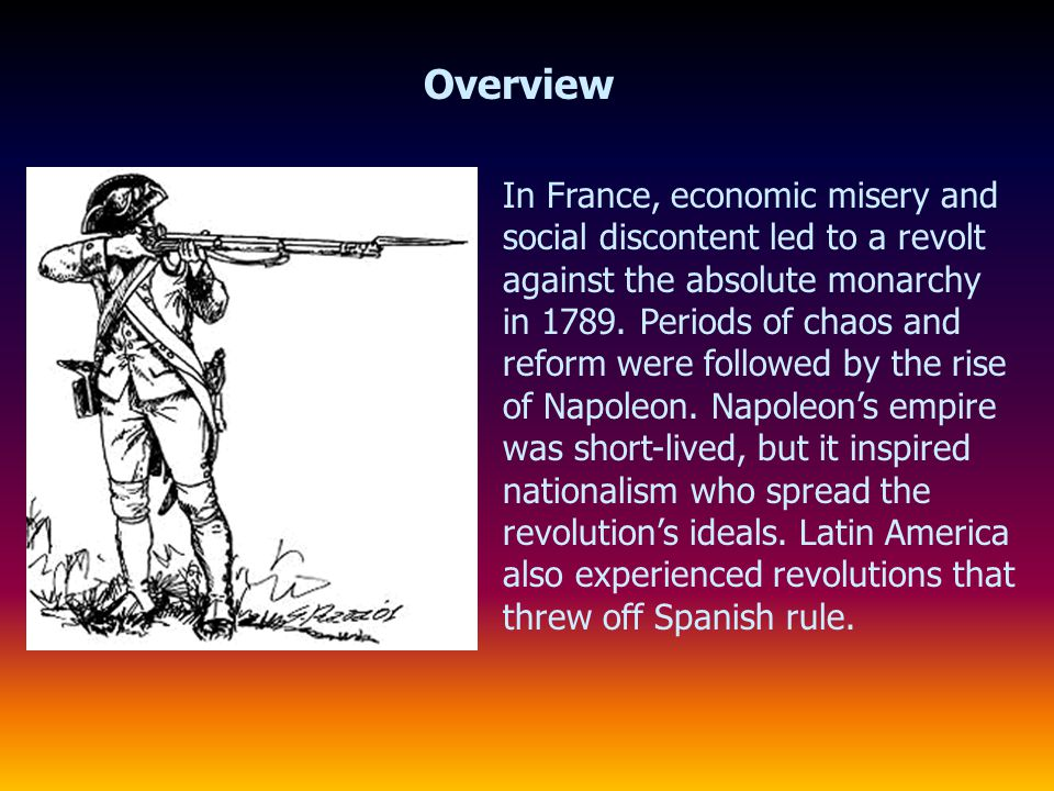 Radicals in Power and the Reign of Terror Stages of the Revolution The execution of the king ushered in the Reign of Terror, which was led by Maximilien Robespierre, a radical revolutionary.