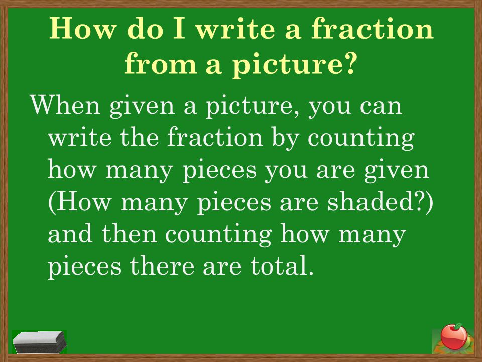 Fraction Book continued… After we go over a section, you will get that part of your book to work on.