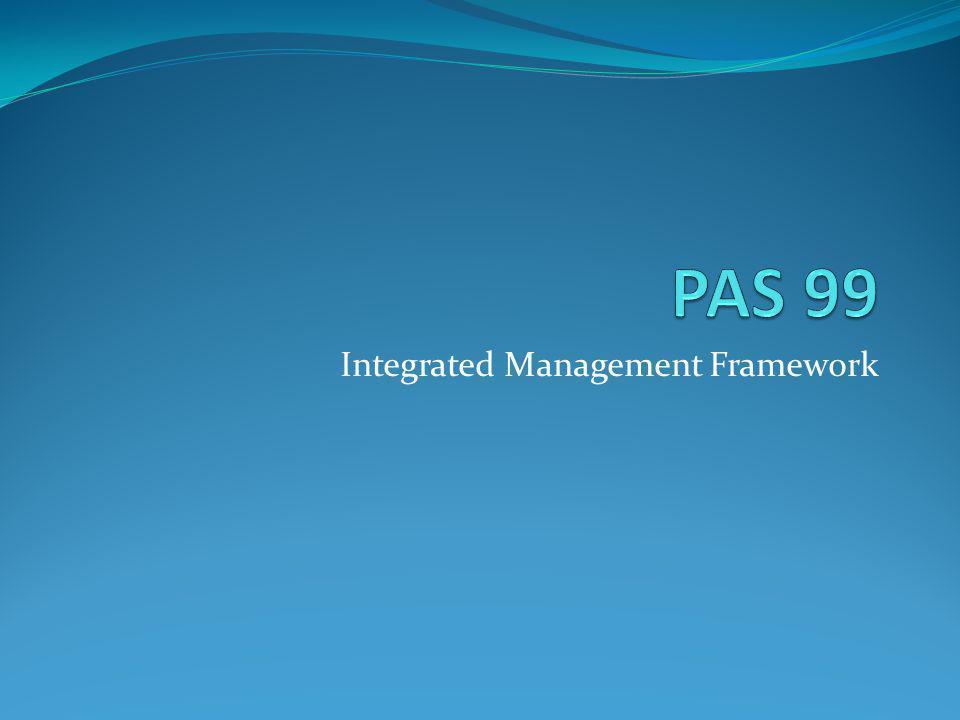 Integrated Management Framework