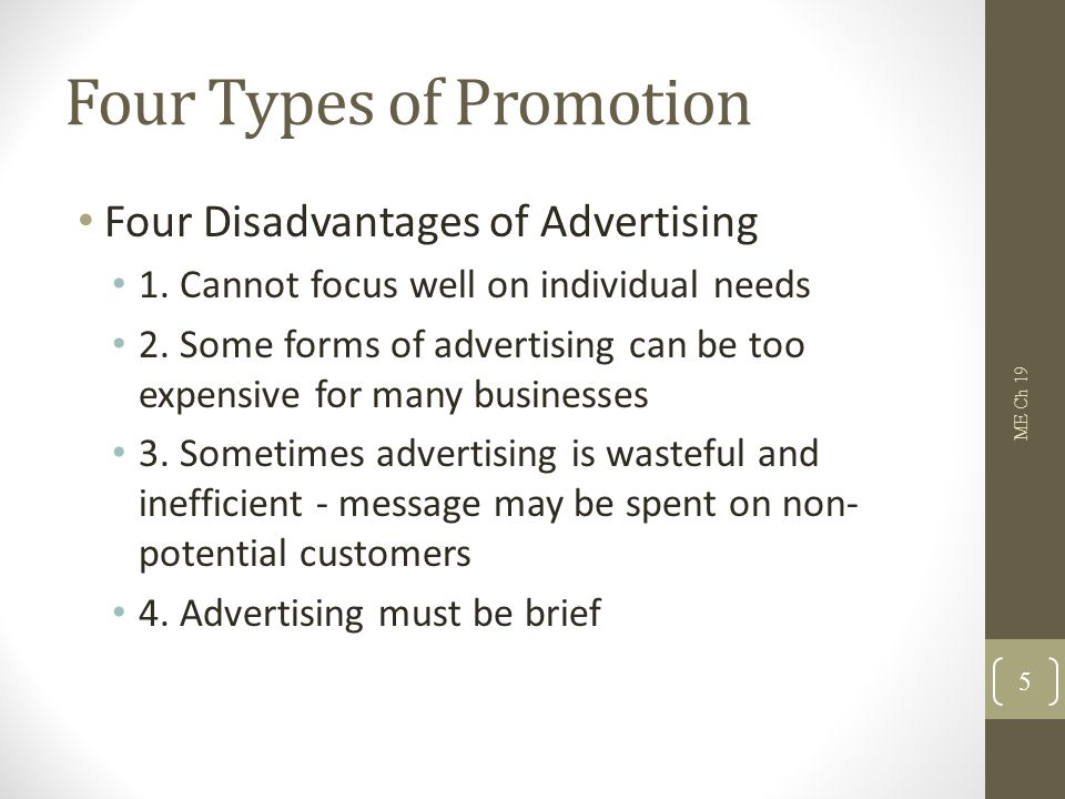 Four Types of Promotion 2.