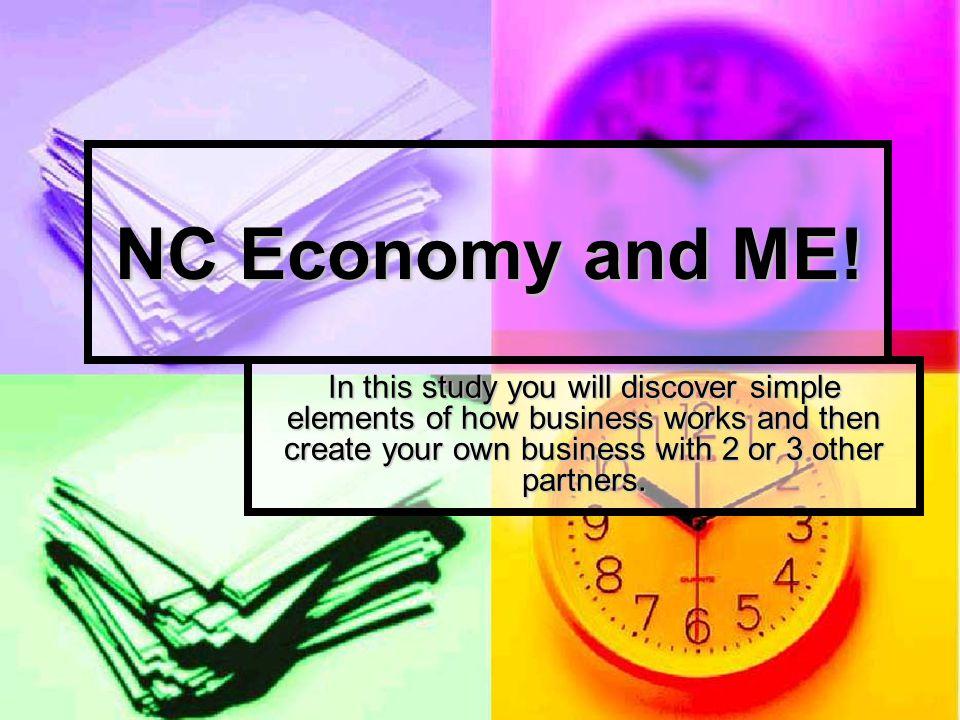 NC Economy and ME.