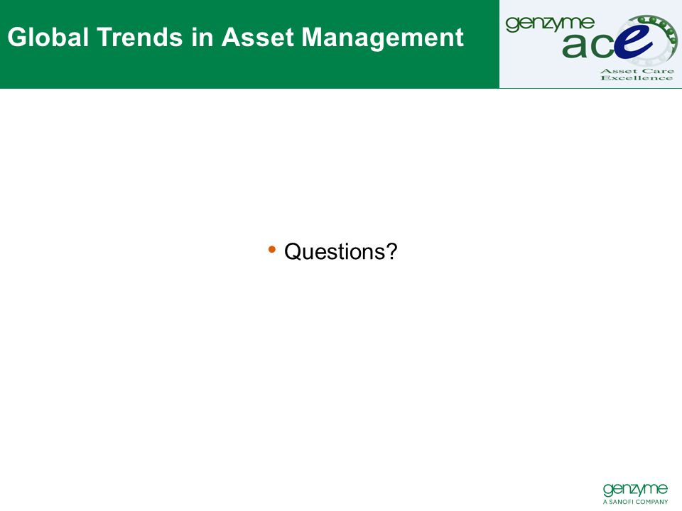 Global Trends in Asset Management Questions