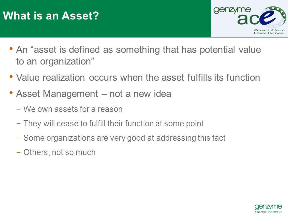 What is an Asset.
