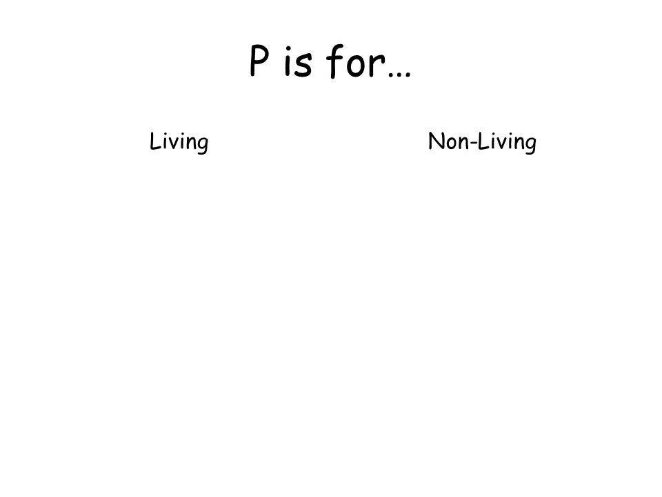 P is for… LivingNon-Living