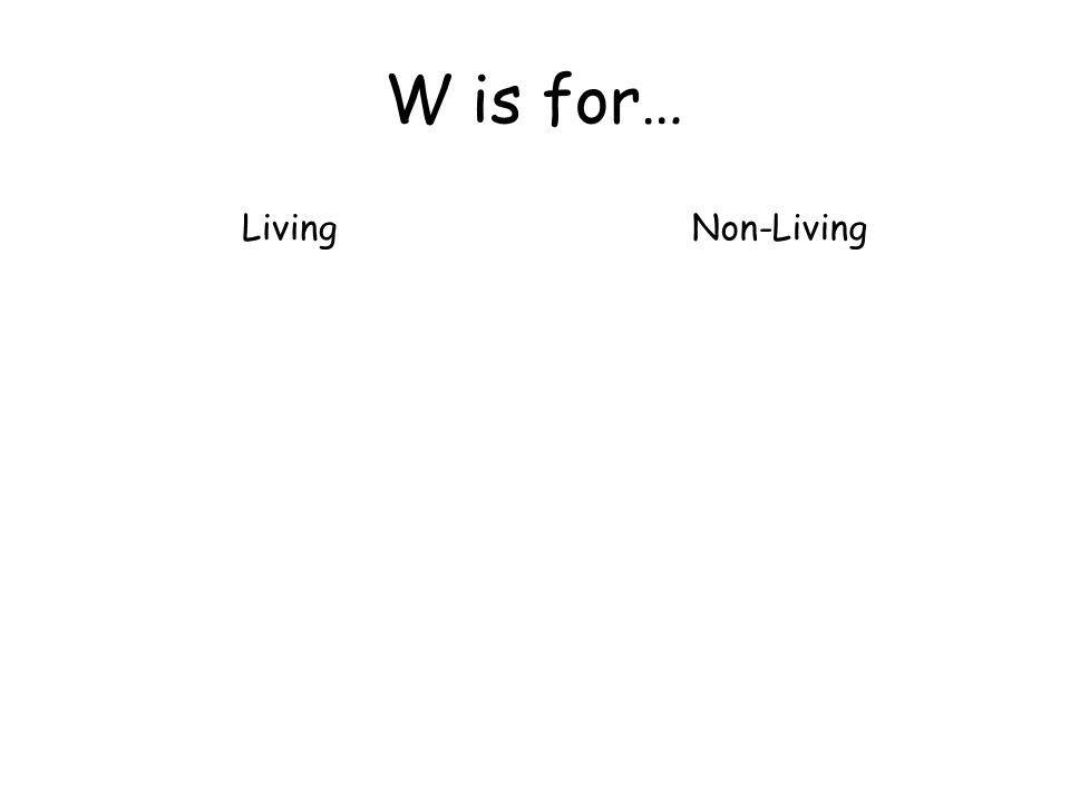W is for… LivingNon-Living