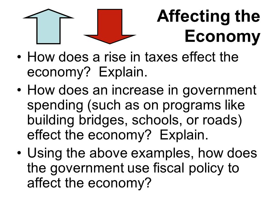Affecting the Economy How does a rise in taxes effect the economy.