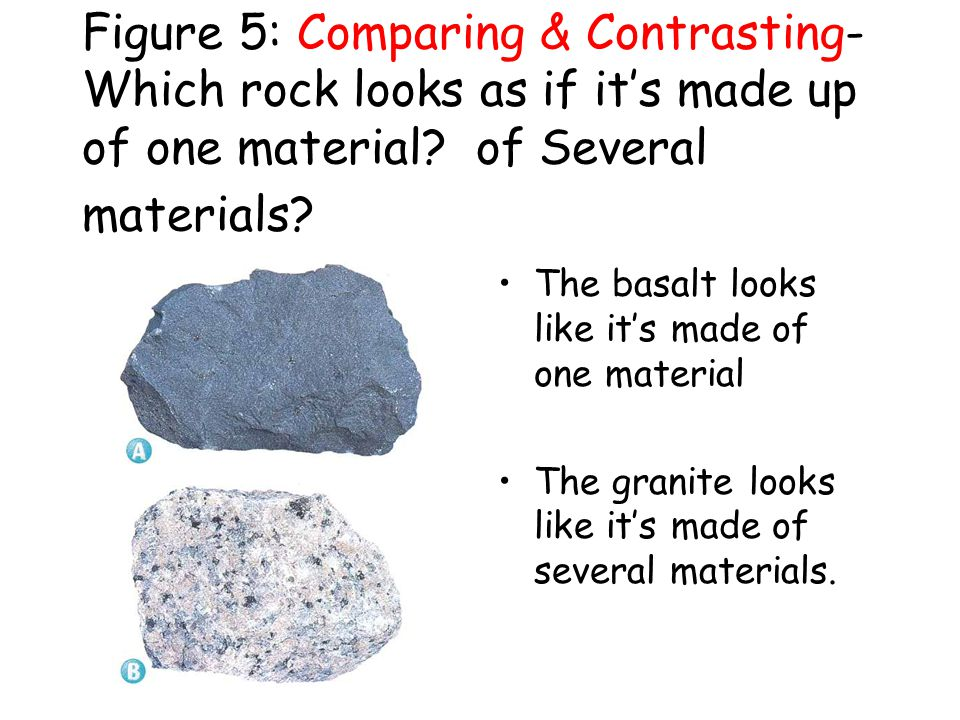 The continental crust is made of ______, which is made of larger crystals, is less dense and is lighter in color. Granite