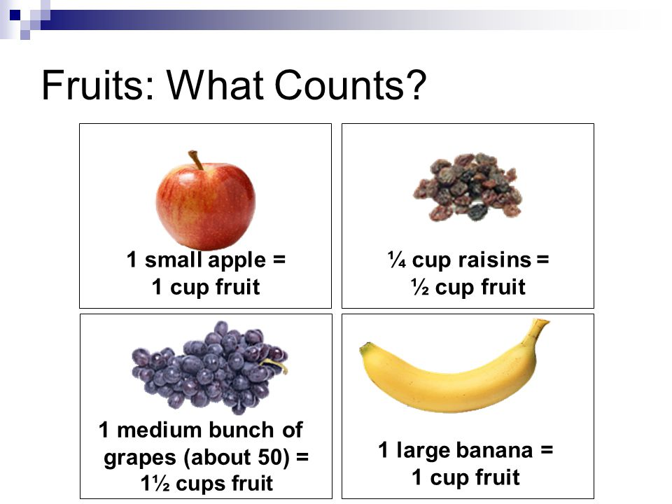 Fruits: What Counts.
