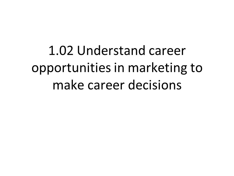 Career Opportunities Identify types of businesses that offer careers in marketing.