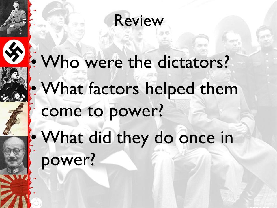1938 – Hitler wants the Sudetenland (area of Czechoslokvia)