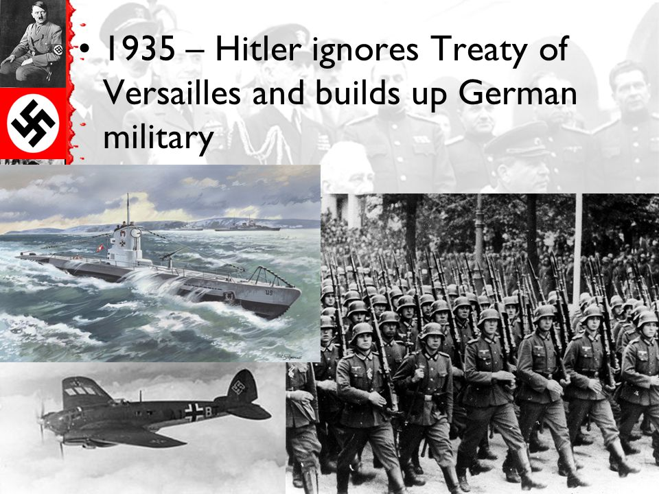 1936 – Hitler occupies the Rhineland (area between France and Germany)