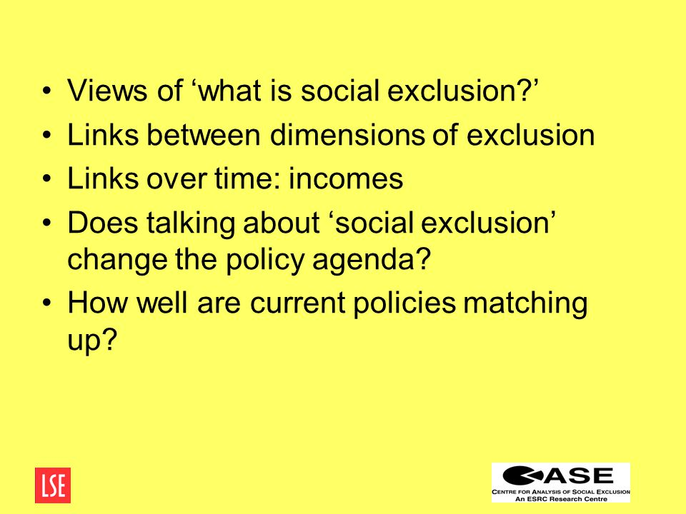 What is 'social exclusion'.