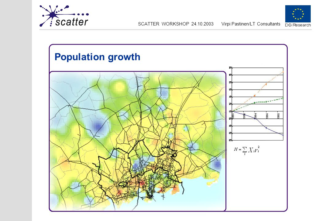 SCATTER WORKSHOP 24.10.2003Virpi Pastinen/LT Consultants Population growth
