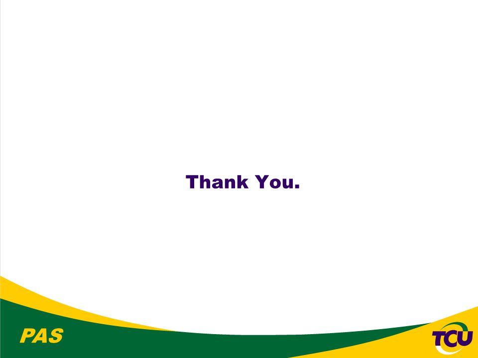 PAS Thank You.