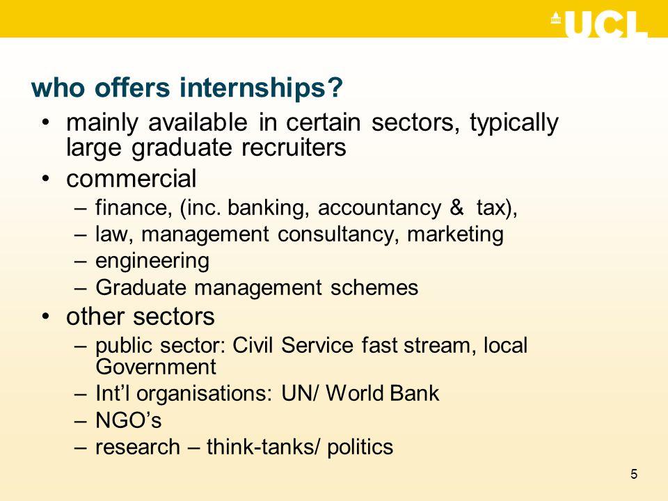 6 Where do i find advertised internships.
