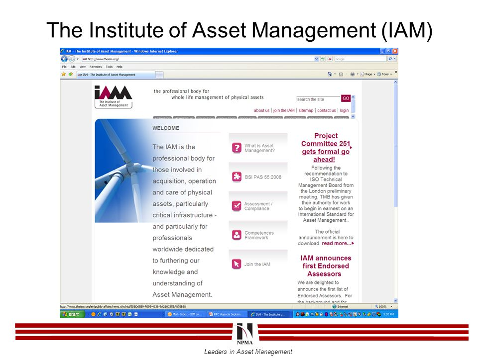 The Institute of Asset Management (IAM)
