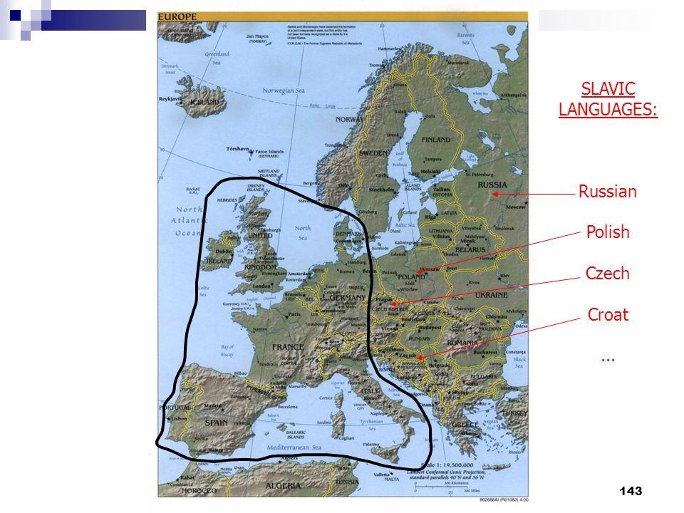 143 SLAVIC LANGUAGES: Russian Polish Czech Croat...