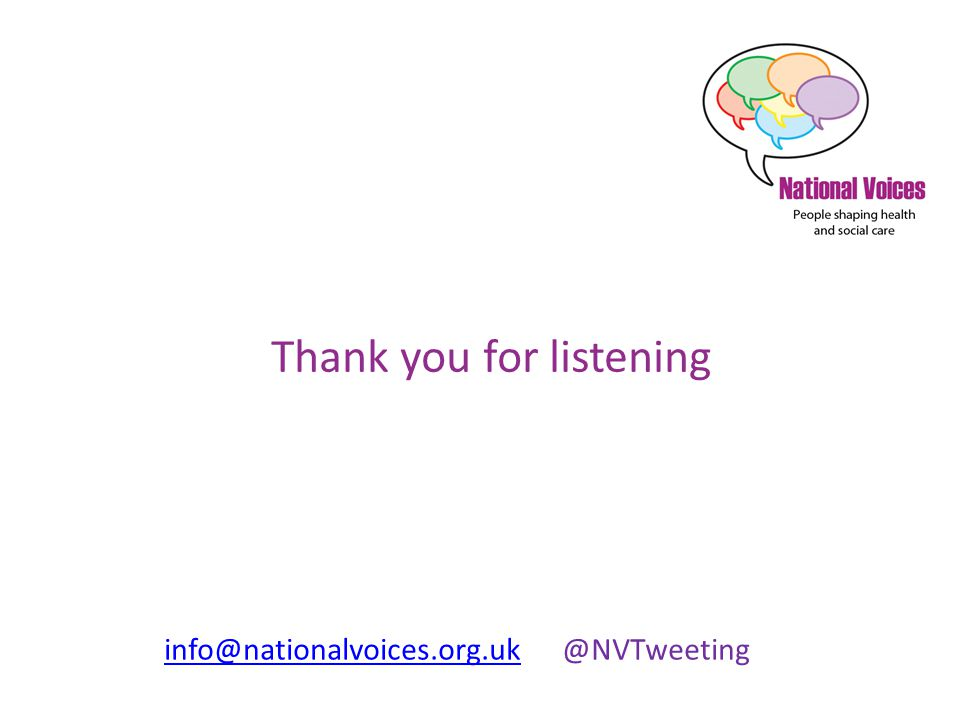 info@nationalvoices.org.ukinfo@nationalvoices.org.uk @NVTweeting Thank you for listening