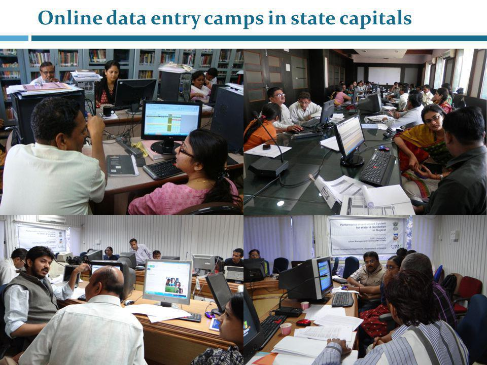 State agencies, data and analysis Web based measurement and monitoring Data entry: at city level Data storage: at state level Shared data available at various levels Cities – data, results, analysis Citizens Access to analysis, results