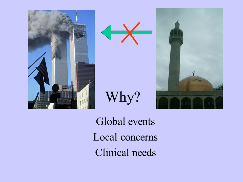Why Global events Local concerns Clinical needs