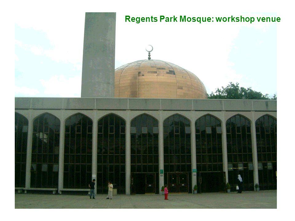 Regents Park Mosque: workshop venue