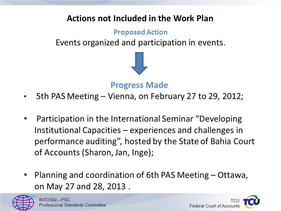 Work programme, timetable and organisation Stage 2 Programme : Establishment of a new structure, numbering system and organization for guidance on the practical implementation of the new PA standards, including a proposal for how existing material, where relevant, might be organised under the new system.