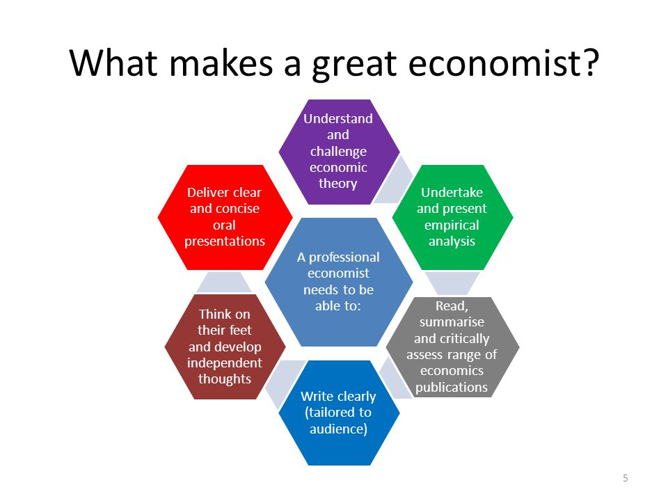What does an economist need to be able to do well.