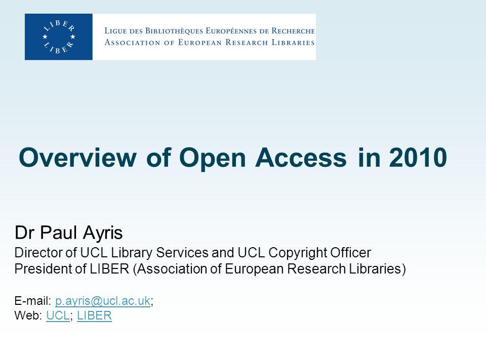 Contents 1.Open Access Repositories 2.E-dissemination 3.Institutional mandates 4.E-publishing 5.LERU Roadmap Towards Open Access 6.Conclusions