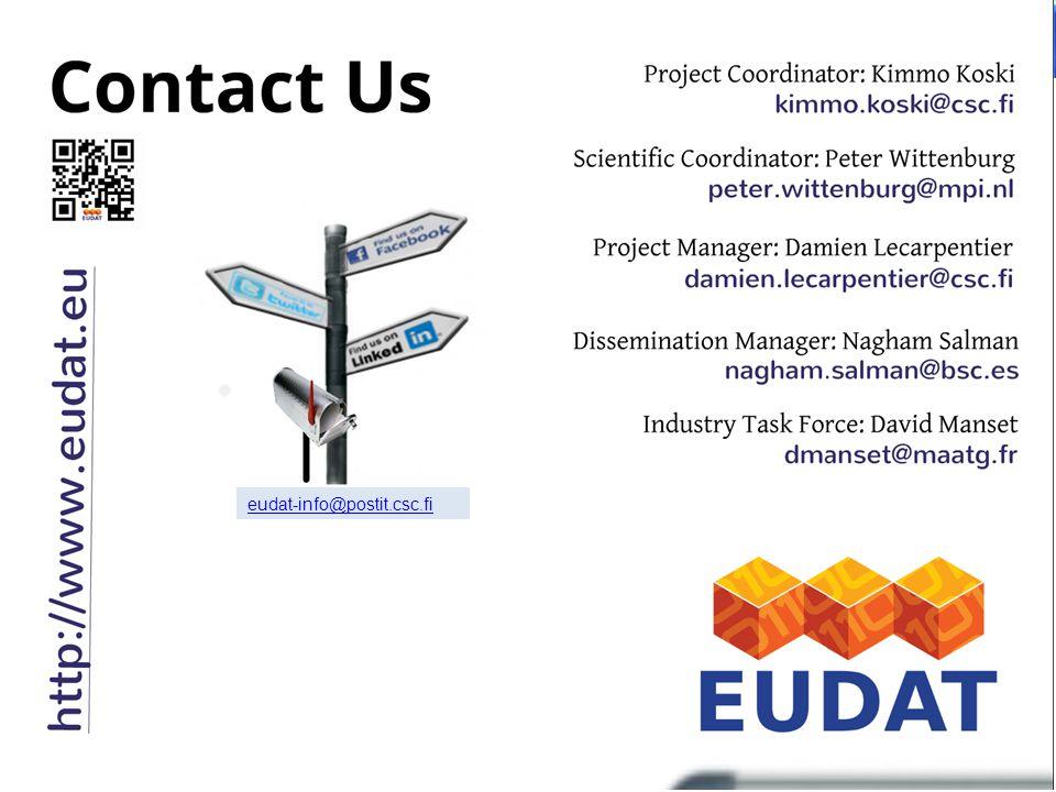 22 eudat-info@postit.csc.fi