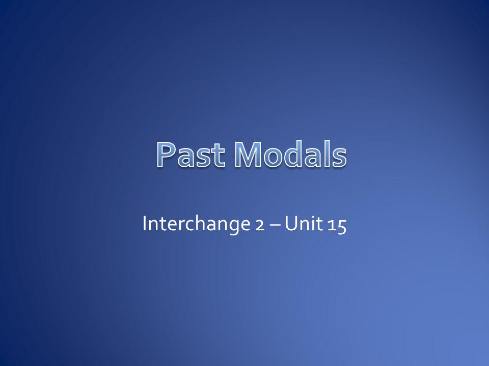 Interchange 2 – Unit 15