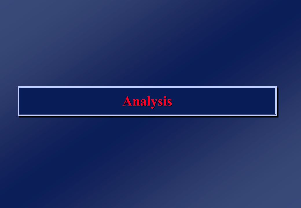 AnalysisAnalysis
