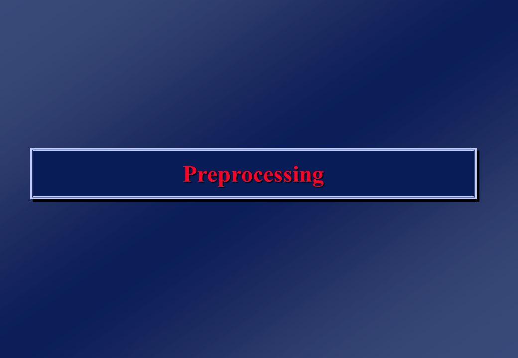 PreprocessingPreprocessing