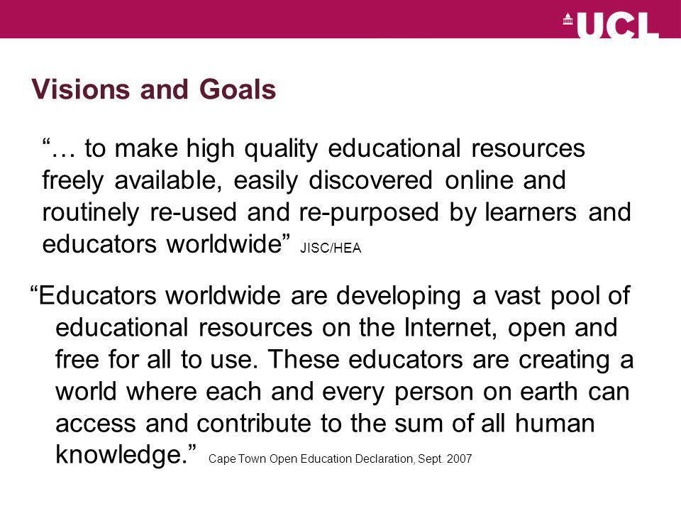 Major OER initiative in HE – Open Univ. (UK)
