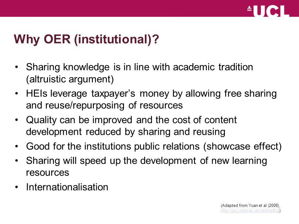 Why OER (individual).