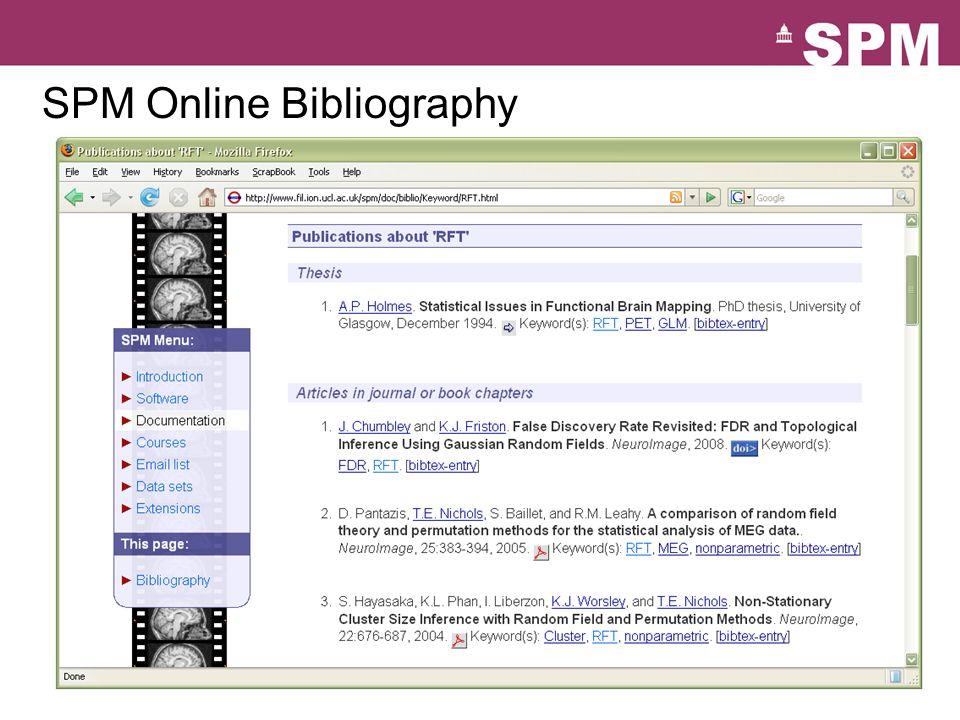 SPM Online Bibliography