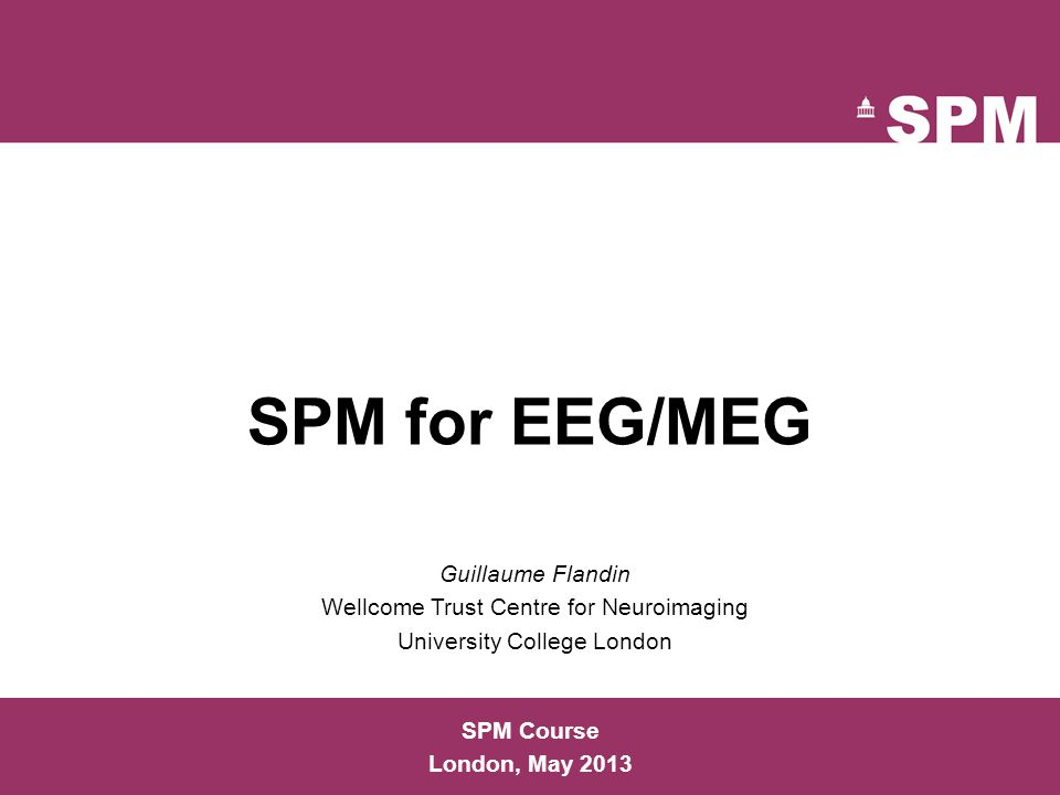 References  EEG and MEG Analysis in SPM8.V.