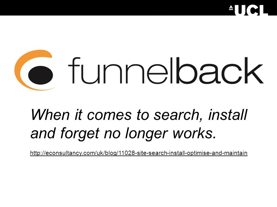 When it comes to search, install and forget no longer works.