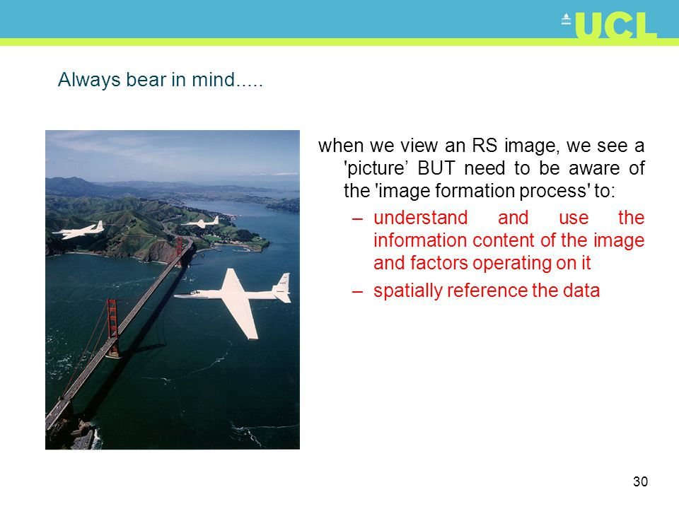 31 Why do we use remote sensing.
