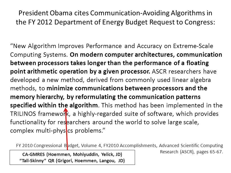New Algorithm Improves Performance and Accuracy on Extreme-Scale Computing Systems.