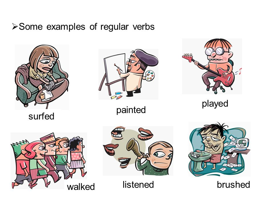  Irregular Verbs Each irregular verb has its own unique form in the past.