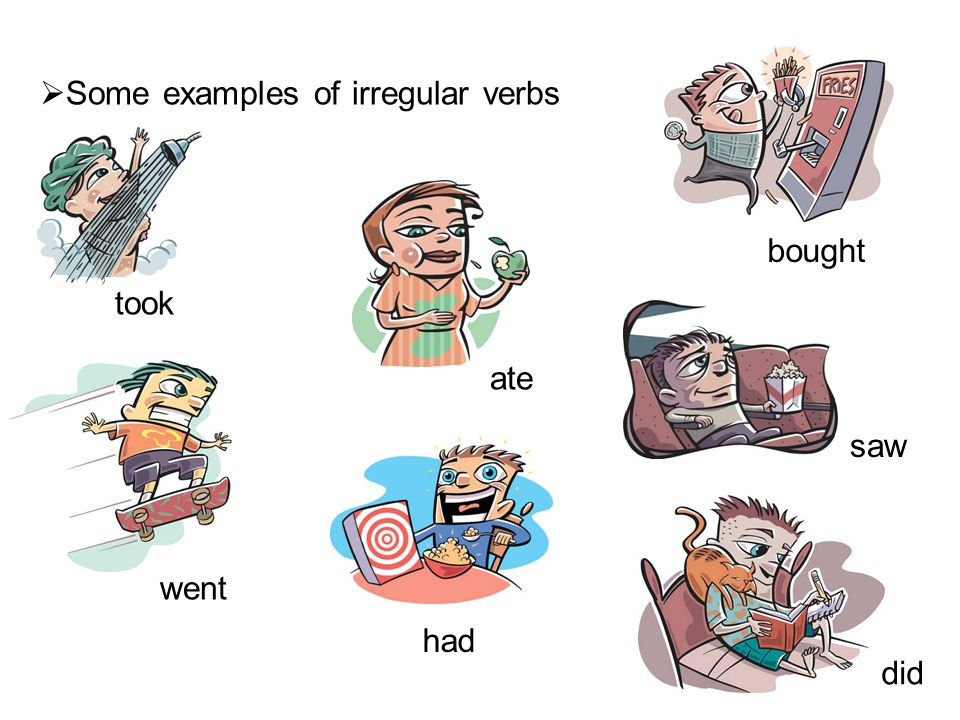 NEGATIVE FORM  To form a negative statement, use the auxiliary verb did + not + the base form of the verb.
