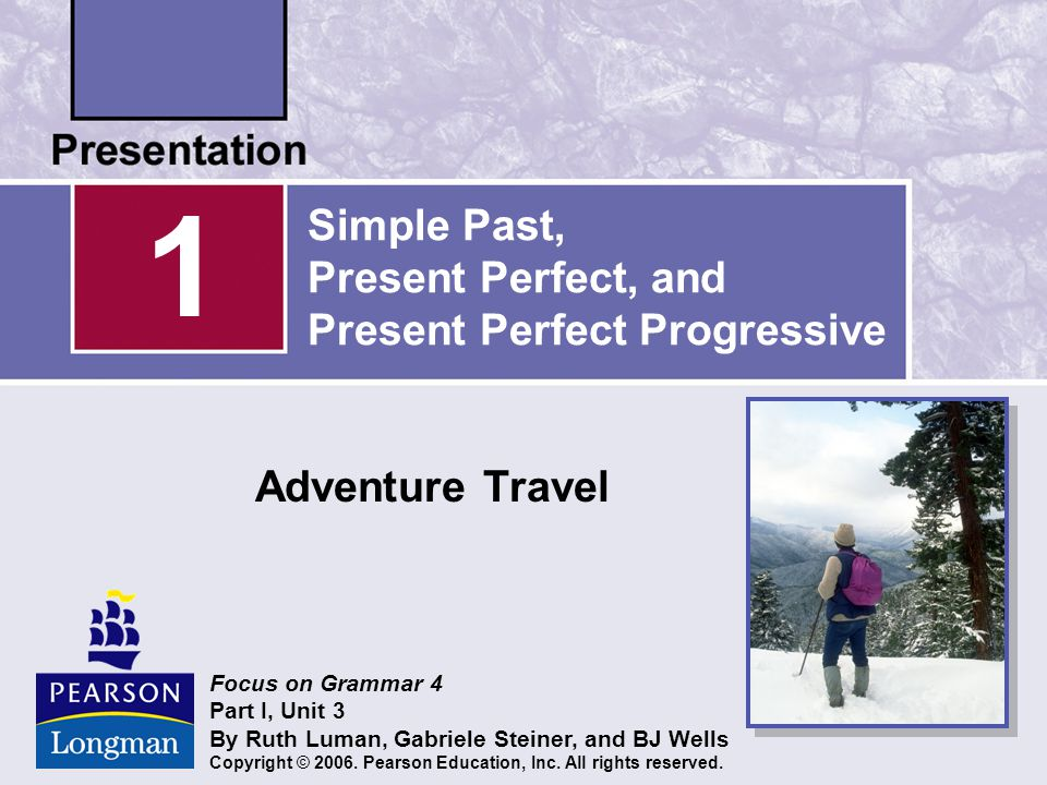 for five hours Present Perfect Progressive The present perfect progressive shows that an activity is unfinished.