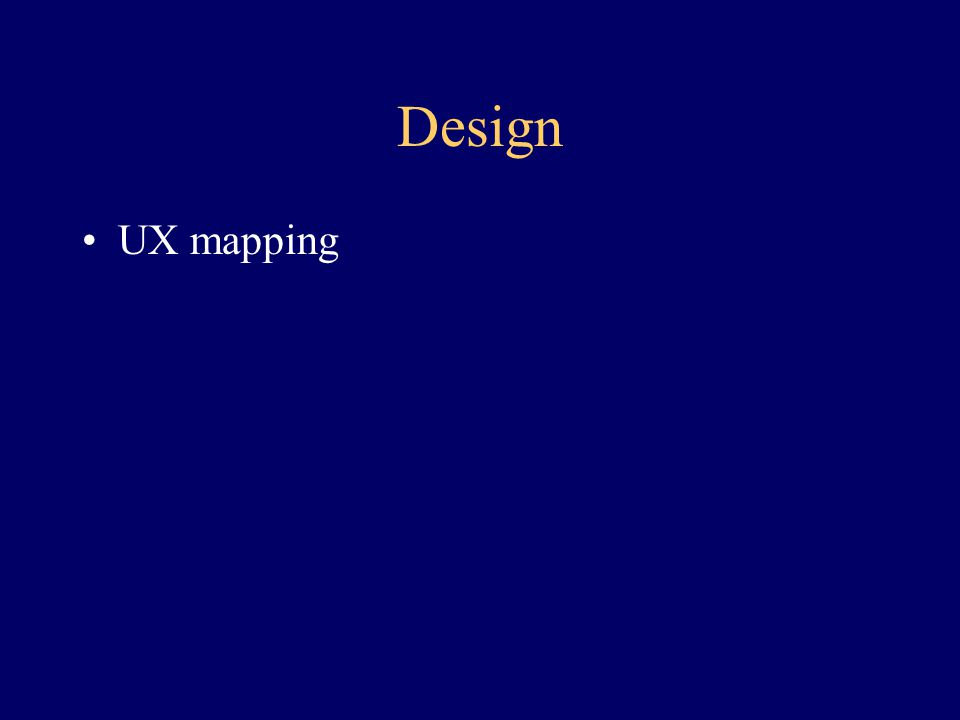 Design UX mapping
